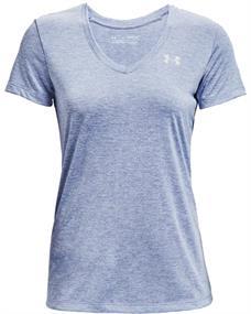 Under Armour Tech Twist V-Neck dames sportshirt blauw