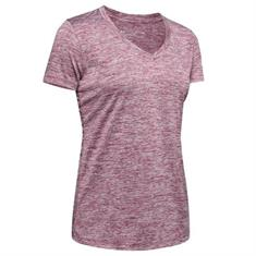 Under Armour Tech Twist V-Neck dames sportshirt paars