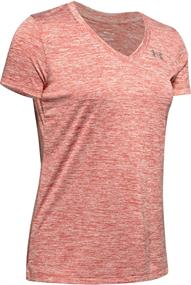 Under Armour Tech Twist V-Neck dames sportshirt rose