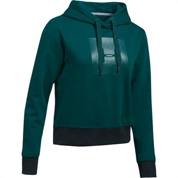 Under Armour Treadborne Hoodie Dames sportsweater donkergroen
