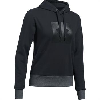 Under Armour Treadborne Hoodie Dames sportsweater ZWART