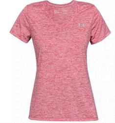 Under Armour Twist Tech V dames sportshirt fuchsia