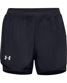 Under Armour UA Fly By 2.0 2-in-1 dames sportshort zwart