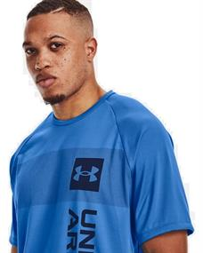 Under Armour UA Tech 2.0 Vert Wordmark heren sportshirt blauw