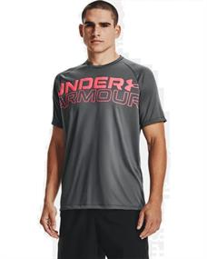 Under Armour UA Tech 2.0 Wordmark heren sportshirt grijs