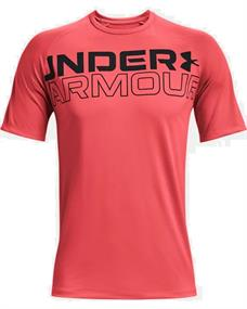 Under Armour UA Tech 2.0 Wordmark heren sportshirt rood