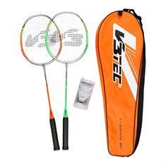 V3 tec Attack Pro badmintonset oranje