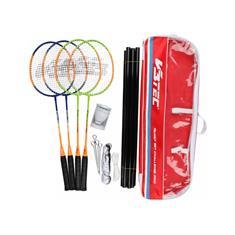 V3 tec Challenge Pro Familie badmintonset blauw