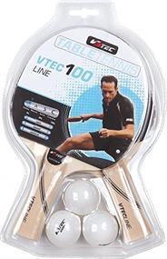 V3 tec NOS VTEC 100 TT-Set.sortiert tafeltennisbatje zwart