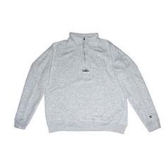 Valuta Brand Script Halfzip heren sweater midden grijs