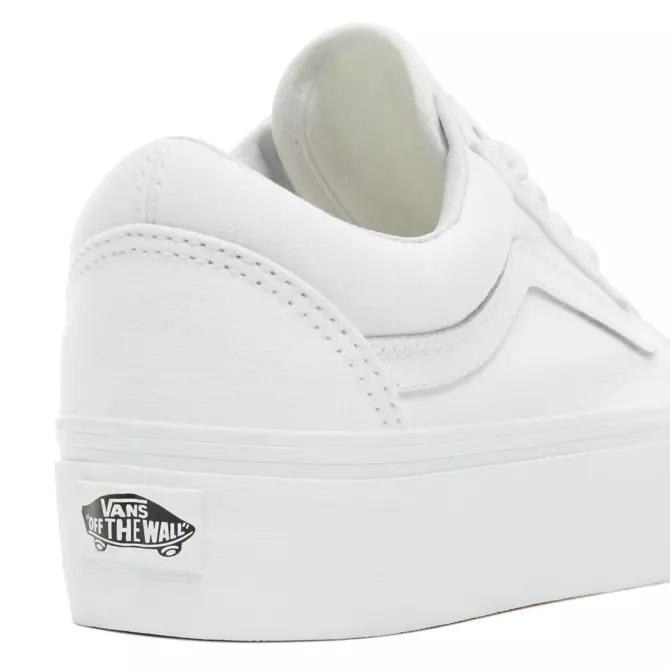 Vans Old Skool Platform 2.0 True White dames sneakers wit