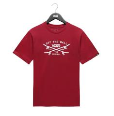 Vans Skate Lock Up jongens skate shirt bordeau