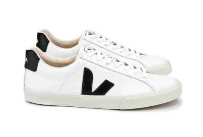 Veja Esplar Low Logo Lth dames sneakers wit