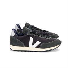 Veja Rio Branco Alveo Mesh heren sneakers zwart
