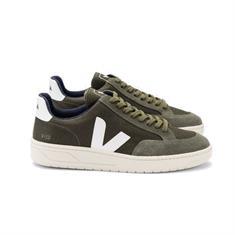 Veja V-12 heren sneakers donkergroen