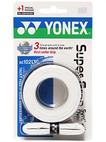 Yonex Badminton 3 Over Grips kleur wit tennisgrip wit