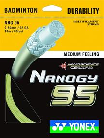 Yonex Nanogy 95 / NBG 95 badminton bespanning geel