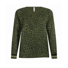 Zoso Jamie dames sweater groen dessin