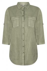 Zoso Mandy dames blouse groen