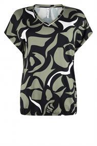 Zoso Marleen dames shirt zwart dessin
