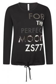 Zoso Mood dames shirt zwart